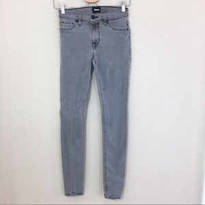Hudson Natalie Midrise Super Skinny Jeans Gray 25